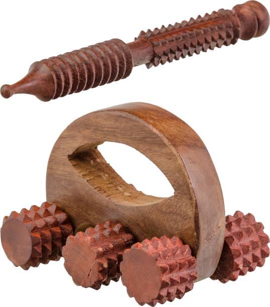 NAU NIDH ENTERPRISES Wooden Acupressure 6 Ball Massager (Cutter) & 1 Rolling Massager Massager