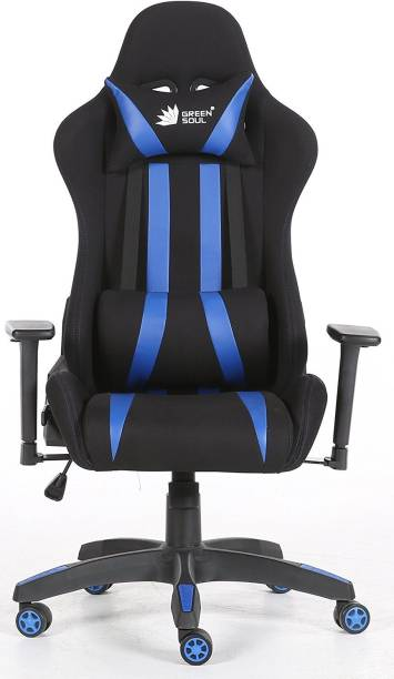 GREEN SOUL Gaming / Ergonomic Chair with 180º Recline (Beast Series) (GS-600) Leatherette, Fabric Office Executive Chair