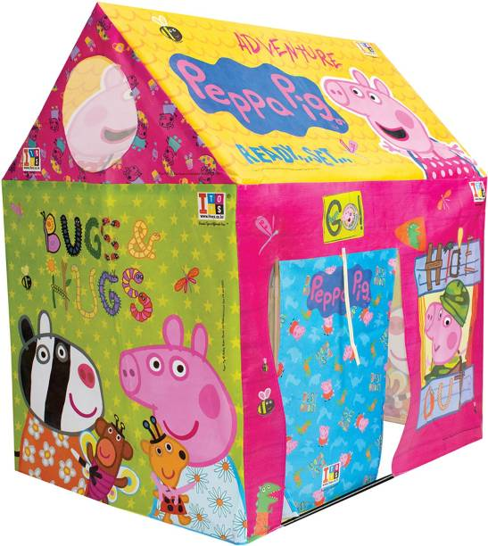 ITOYS Peppa pig playhouse tent for kids, multicolor