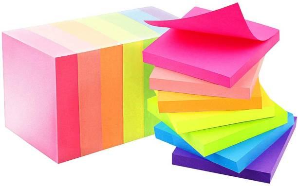 pollwala post it notes 100 Sheets Regular, 5 Colors