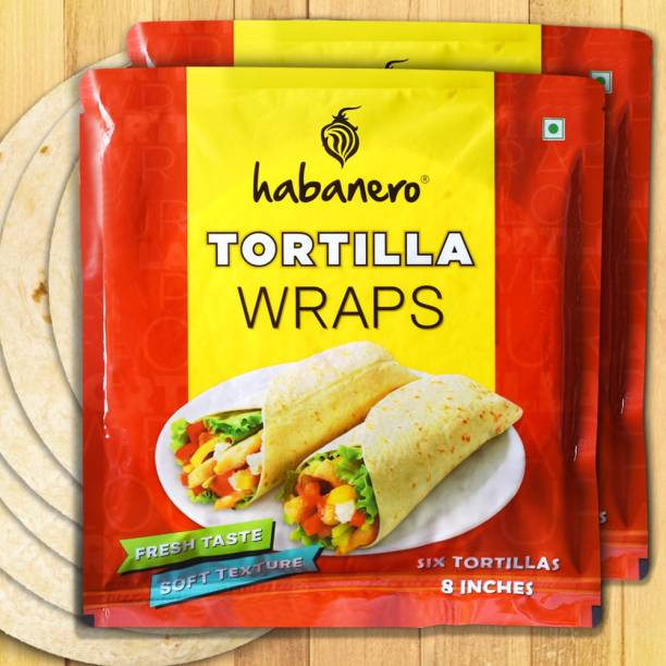 habanero Tortilla Wrap Pack of 2 Best for Rolls, Wraps & Tacos 660 g
