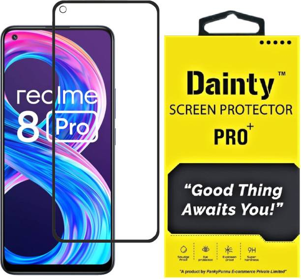 Dainty TECH Edge To Edge Tempered Glass for Realme 8 Pro, Realme 8