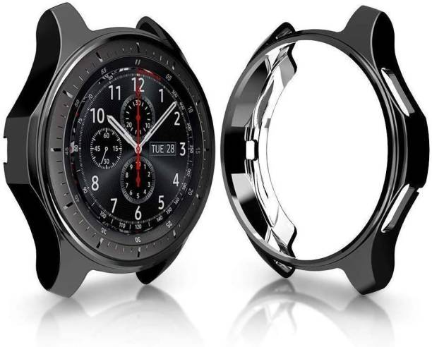 CallSmith Front and Back Screen Guard for 46 MM Samsung Gear S3 Samsung Galaxy Watch, Flexible Silicone Soft TPU Bumper Case Cover