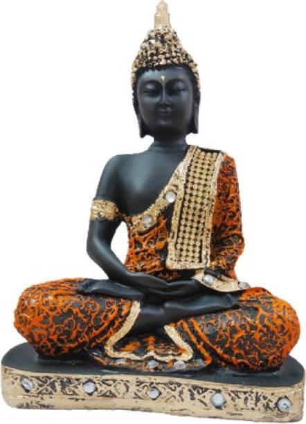 Meera Mahila Gruh Udhyog Meditating Lord Buddha Decorative Showpiece  -  23 cm