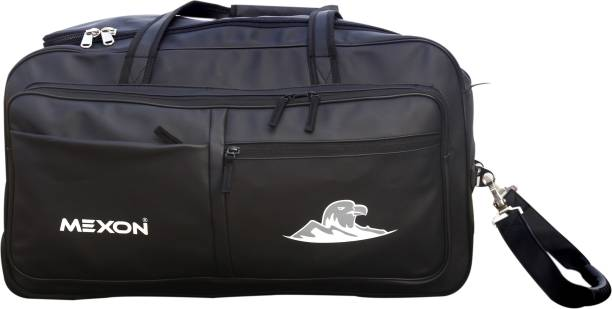 MEXON PU Leather Travel Sports Duffle Bag With Wheels