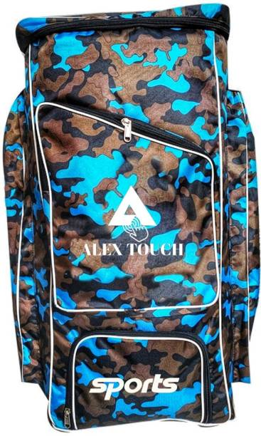 ALEXTOUCH Cricket Kit Bag With Heavy Padded Foam Long Time Running (BLUE ARMY)
