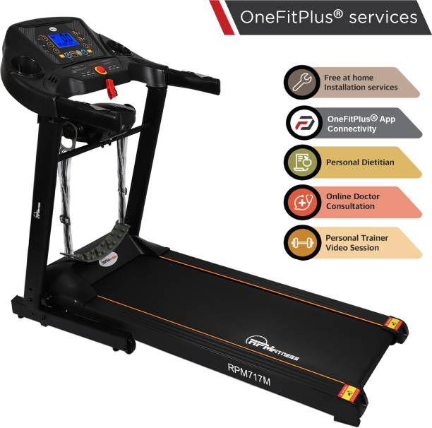 RPM Fitness RPM717M 2 HP Peak Multifunction with Free Installation and Massager Treadmill
