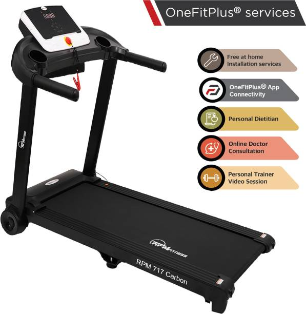RPM Fitness RPM717 (2 HP) Carbon Motorized with Diet Plan, Personal Trainer, Doctor Consultation & Installation Services Treadmill