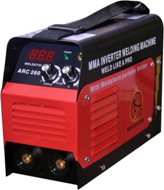 WELDSTORM Arc 260 Inverter Welding Machine With All Accessories (With Belt Only) Inverter Welding Machine