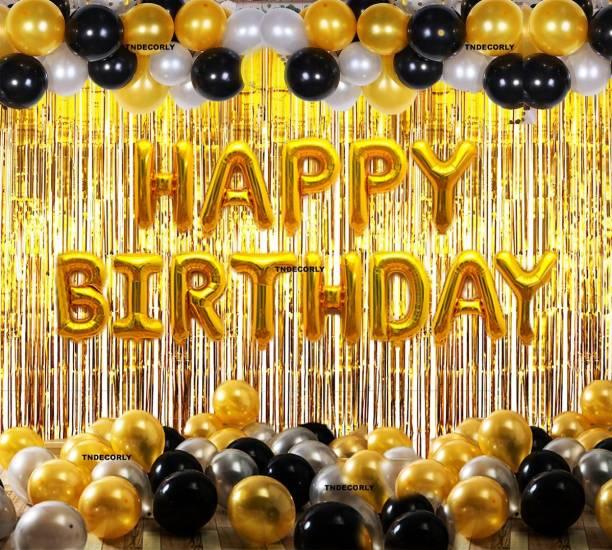 TNDECORLY Solid Birthday Decoration Kit / Theme Decoration Balloons Balloon