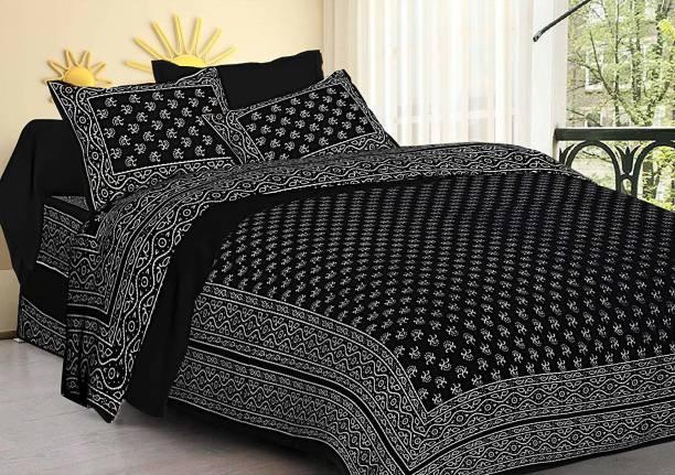 RAJDEVI JAIPUR PRINTS 351 TC Cotton Double King Printed Bedsheet
