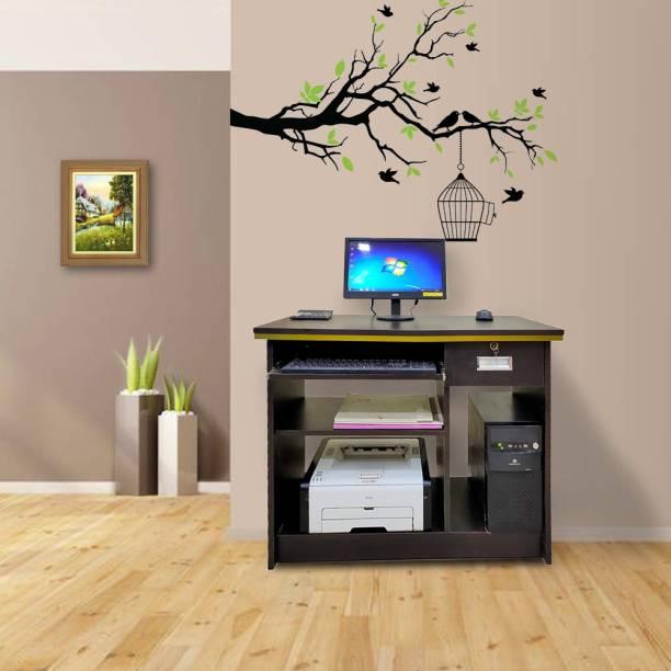 ELTOP Desktop Solid Wood Computer Desk