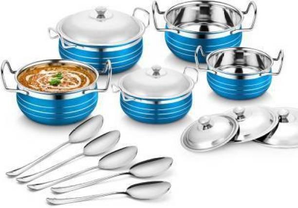 Flipkart SmartBuy 5pcs coloured handi Induction Bottom Cookware Set