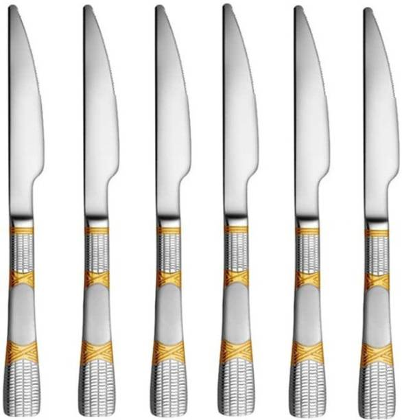 Shri & Sam Lush 6 Pieces Stainless Steel Dessert Knife Set