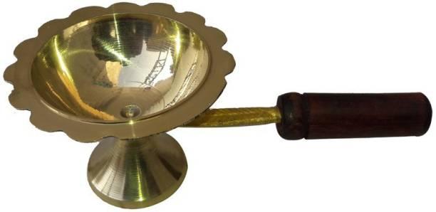 k j traders Aarti Brass Table Diya