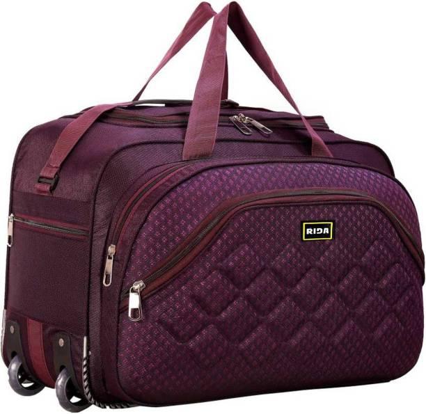 RIDA Lightweight Expandable 55 L Heavy Duty Travel Luggage Bag Travel Duffel Bag Purple
