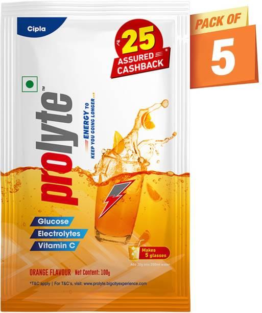 Cipla Prolyte Glucose Energy Powder with Electrolytes, Vitamin C, Instant Hydration Energy Drink