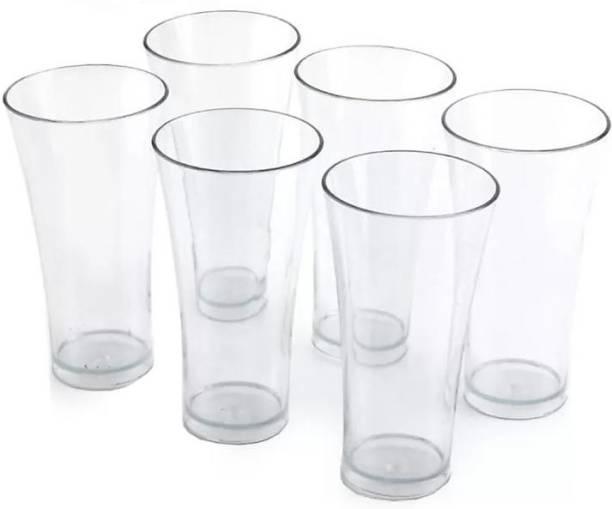 Flipkart SmartBuy (Pack of 6) (Pack of 6) (Pack of 6) 6 Pcs. Unbreakable Transparent Water, Juice, Cold Drinks Glass Set 300 Ml High Grade Poly Carbonate Plastic Glasses Glass Set (300 ml, Plastic) Glass (300 ml, Plastic) Glass Set