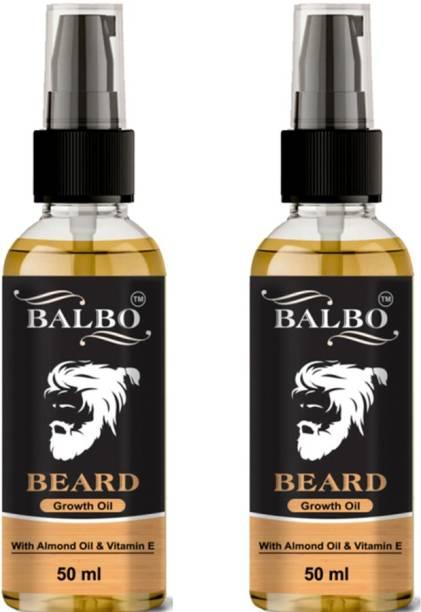 BALBO Beard Growth Oil Advanced 50ml and Beard Growth Supplement-50ml  Hair Oil