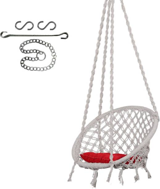 Swingzy Swing with SQ-Cushion & 3 ft. Chain Cotton Small Swing