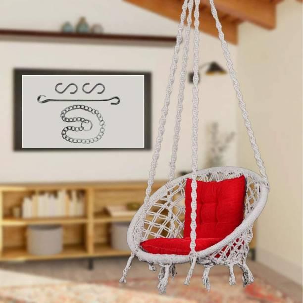 Swingzy Swing with L-Cushion & Hanging Chain Cotton Hammock