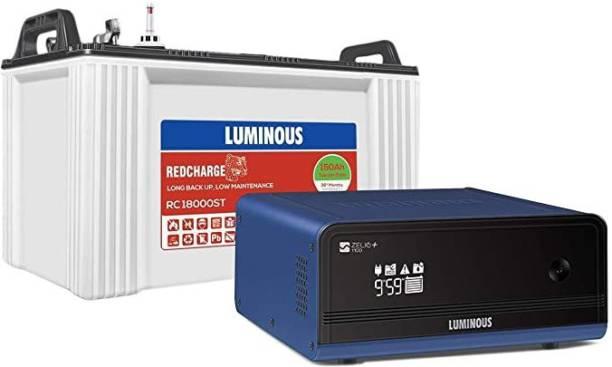 LUMINOUS Zelio 1100 Inverter Plus Red Charge RC18000st Tubular Battery Tubular Inverter Battery