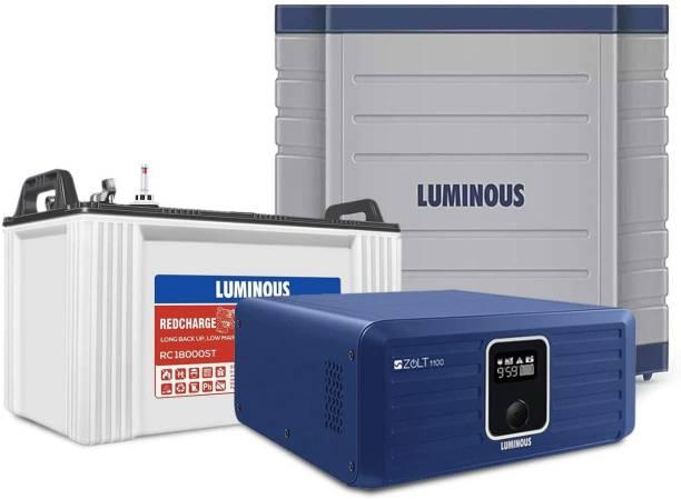 LUMINOUS Zolt 1100 Plus RC18000St150 (AH) Plus Trolley Tubular Inverter Battery