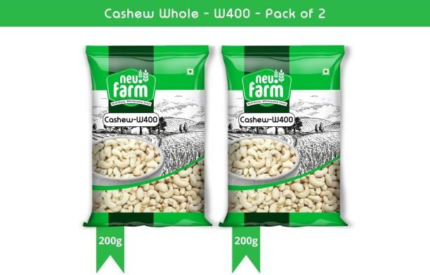 Neu.Farm Value - Cashew/Kaju - Whole W400 - Cashew Nuts - Pack of 2 (200g x2) Cashews