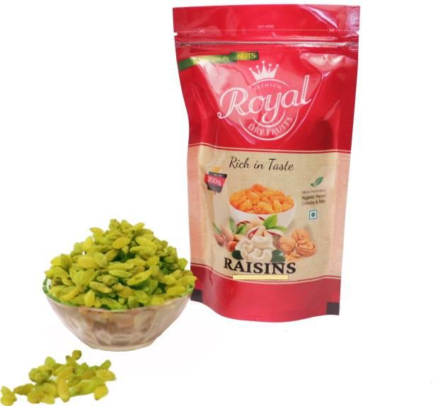 Premium Royal Dryfruits Green Raisin Raisins