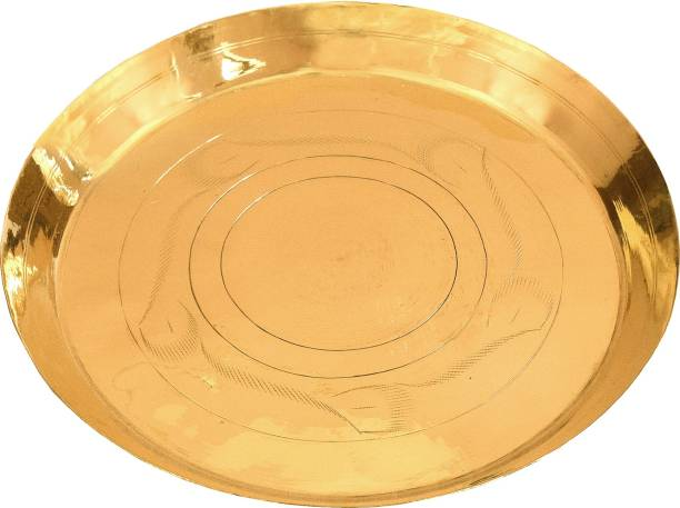 Shrinika Brass Dinner Plate / Pital Thali Dinner Plate