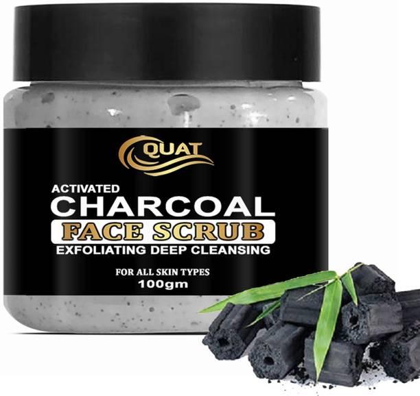 QUAT Charcoal Scrub Revitalizing Skin Whitening Face Scrub for Glowing Skin,best for Oily,Dry Skin for both Women&Men Scrub