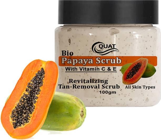 QUAT 100% natural Papaya Scrub for Revitalizing Skin,Face Whitening,Glowing Skin suits both Oily&Dry Skin for both Women&Men Scrub