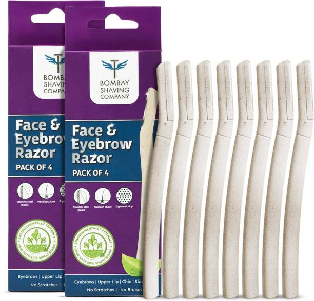 BOMBAY SHAVING COMPANY Eyebrow & Face Razor For Women Facial Hair Removal with Ergonomic Grip