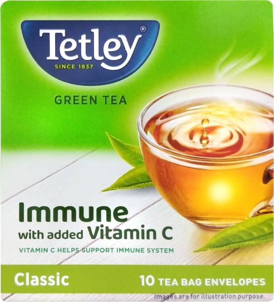 tetley Immune with Added Vitamin C Green Tea Bags Box