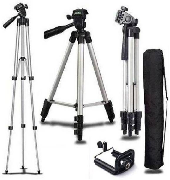 Dilurban New Arrival 3110 Tripod Stand for Phone and Camera Adjustable Aluminium Alloy Tripod Stand Holder for Mobile Phones & Camera ,Photo/Video Shoot Tripod