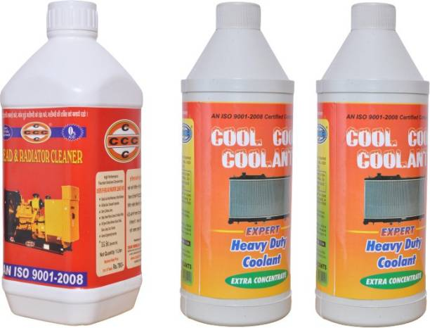 CCC Radiator cleaner descaling inside Free Heavy Duty radiator coolant Concentrate 2L Engine Cleaner