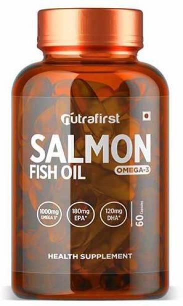 NutraFirst Salmon Fish Oil 1000mg Omega-3 and (180mg EPA,120mg DHA) 1B