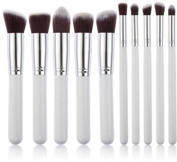 Kylie 10 Piece Makeup Brush Set Without Pouch (white)