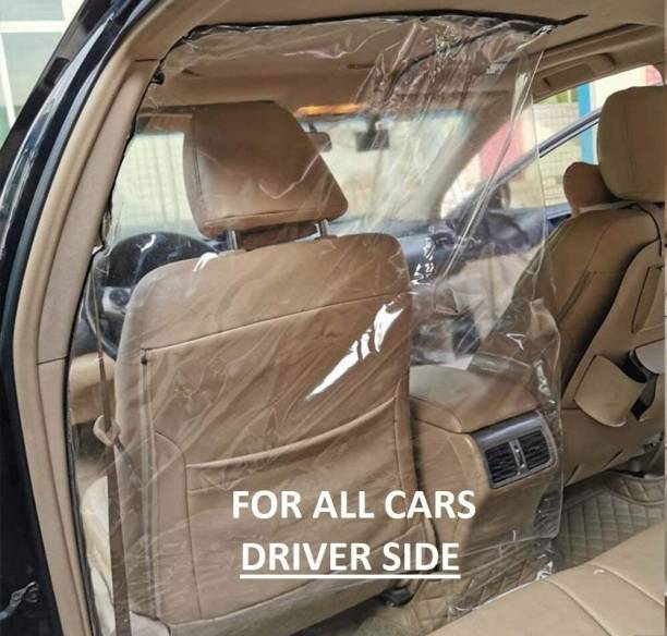 SHONZER Plastic Transparent Car Partition Divider Film Protective Film Anti Virus Anti Spitting Car Safe Protector Divider Film for All Cars (Driver Side) Car Curtain