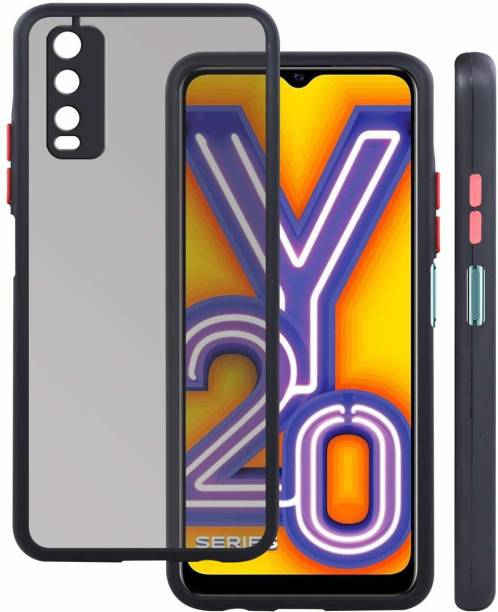 DHAN GTB Back Cover for Vivo Y20i II Vivo Y20 i(6.51 inch),Back case full protection smoke matte finish cover