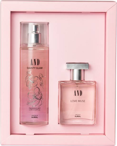 AND Love Muse Eau De Parfum 50ML & Dainty Glam Body Mist 200ML for Women Crafted by Ajmal