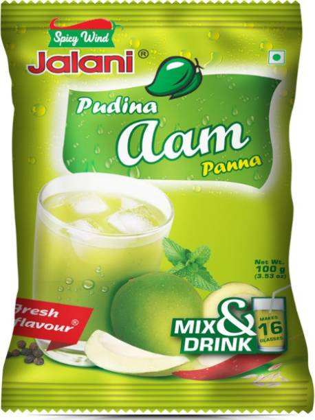 spicy wind Instant beverage mix powder with the freshness of mint and tanginess of green mango for making traditional Indian household Pudina Aam Panna / Karry Pani