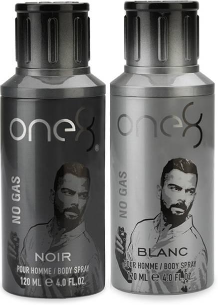 one8 by Virat Kohli One 8 No Gas deo combo -Noir + Blanc Perfume Body Spray  -  For Men