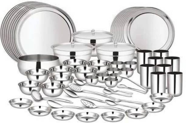 Shri & Sam Pack of 101 Stainless Steel Kitchen Combo Dinner Set