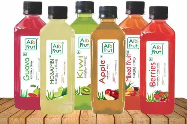ALOFRUT Juice Taste Combo, 200 ml - Pack of 12