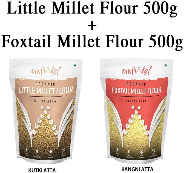 Amwel Combo of Little Millet Flour 500g + Foxtail Millet Flour 500g (Pack Of Two)
