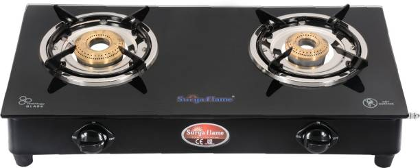 Suryaflame 2B Lifestyle MS NA (ISI MARKED CE MARKED) and Doorstep Service Gas Stove Steel Manual Gas Stove