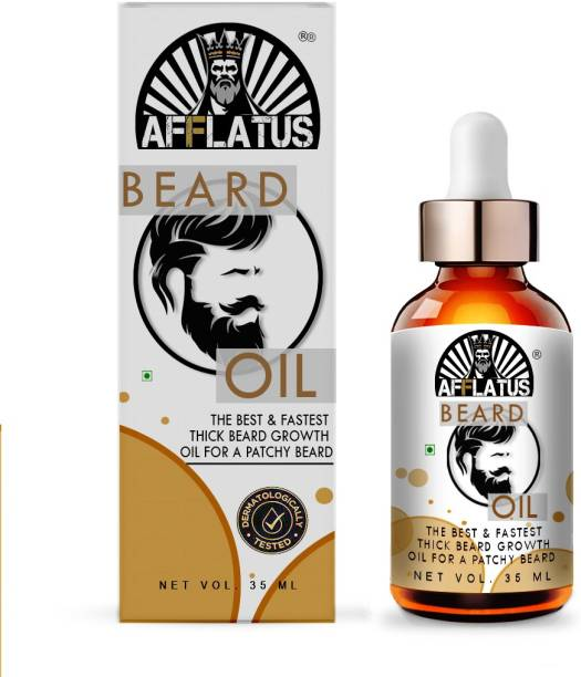 Afflatus Beard Oil For Beard Hair Growth and Moustache for Men with 21 Vital ingredients and Essential Oils | Grow Thick and Fuller Beard Hair Oil