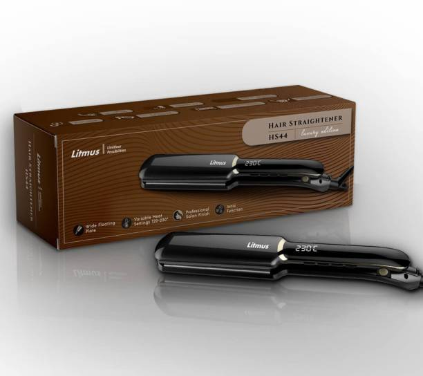 Litmus Wide 3D Ceramic Plate Hair Straightener with Ionizer HS-44   Digital Temperature Display with 12 Heat Settings   Suitable for all Hair Types Hair Straightener
