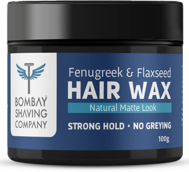 BOMBAY SHAVING COMPANY Strong Hold Hair Wax with Fenugreek & Flaxseed | Non- Sticky, Matte Finish and Chemical Free Hair Styling Wax for Men Hair Wax